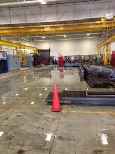 Large Warehouse Floor Water Damage