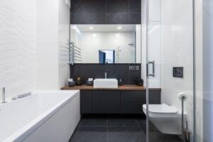 Water Damage Restoration in bathroom